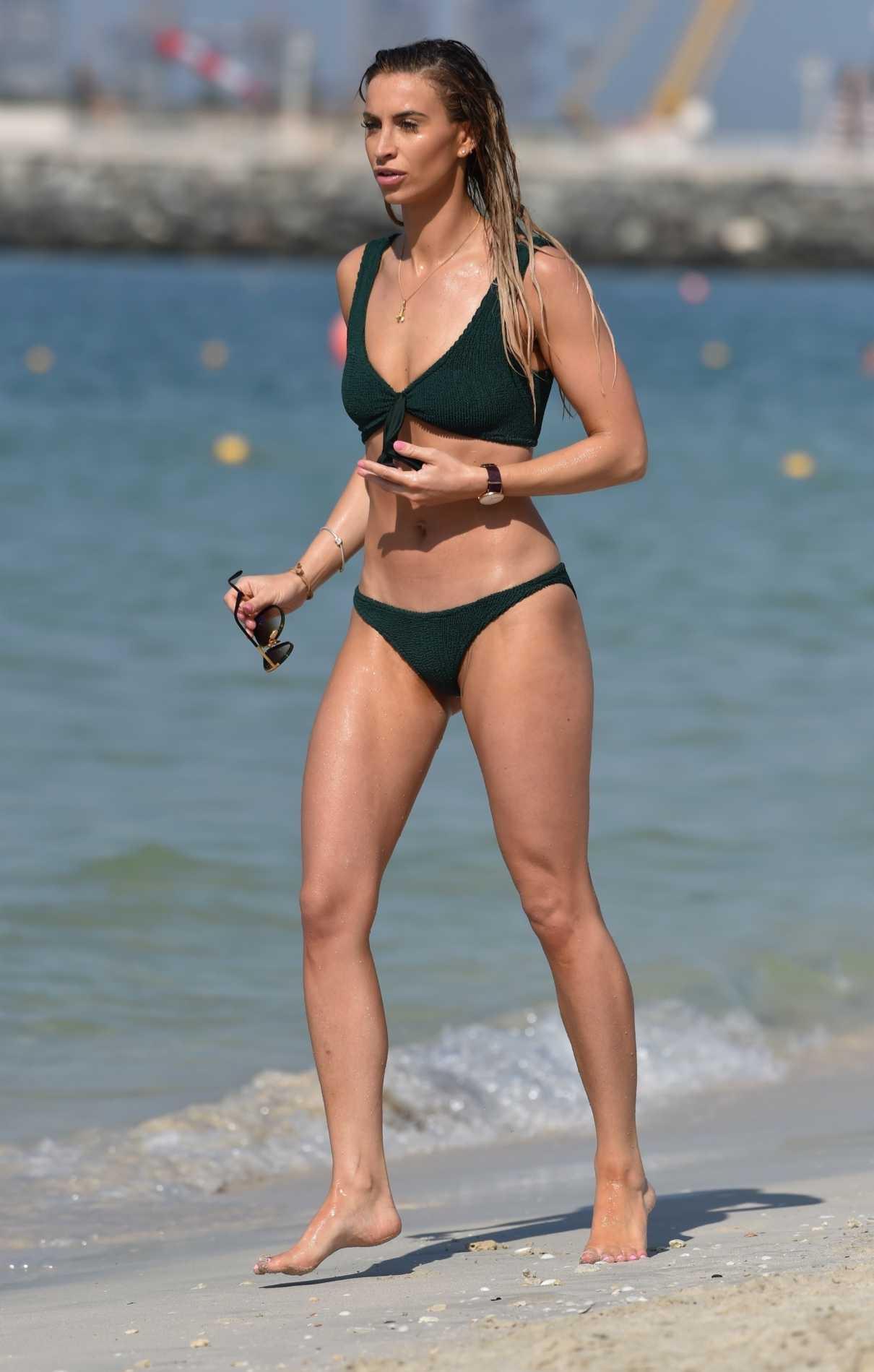 Ferne McCann in a Green Bikini