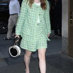 Kaitlyn Dever in a Green Suit