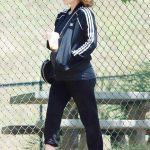Kate Mara in a Black Adidas Track Jacket