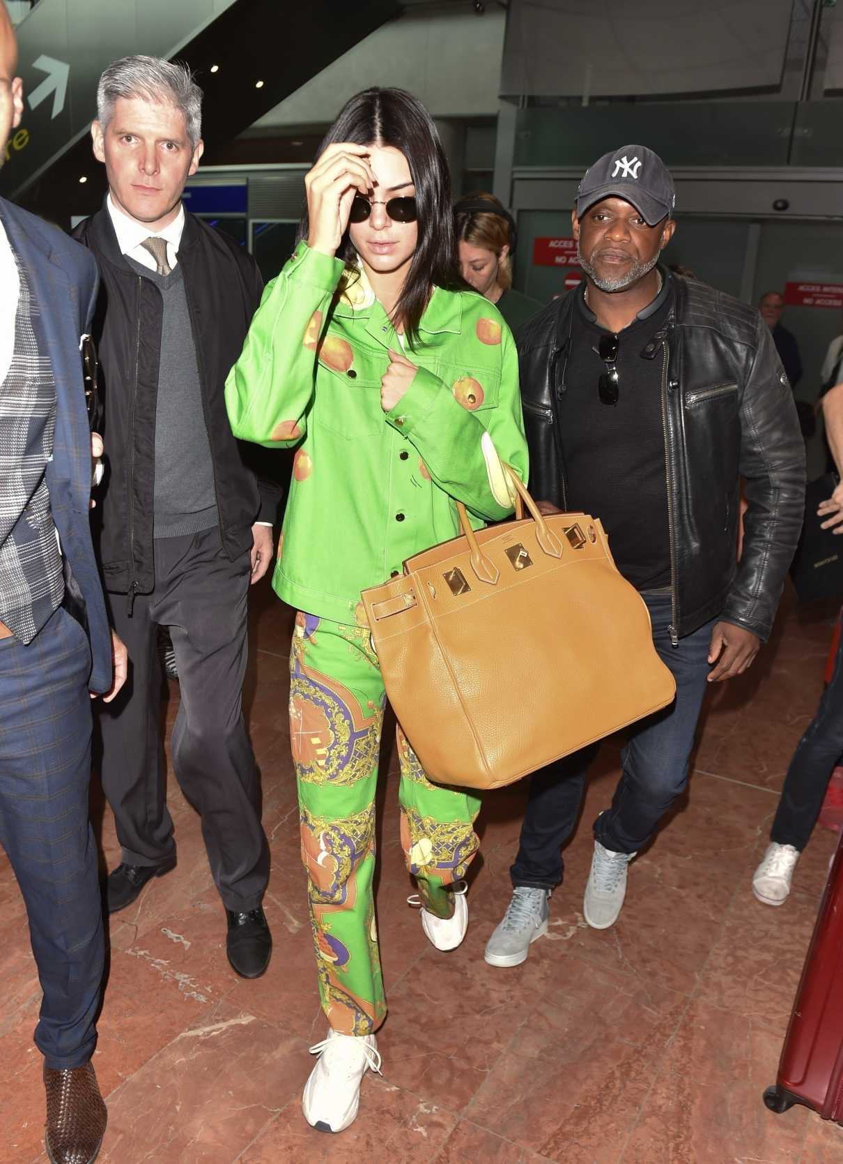 Kendall Jenner in a Green Suit