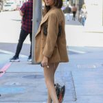 Madison Beer in a Beige Blazer