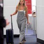 Margot Robbie in a Gray Jumpsuit
