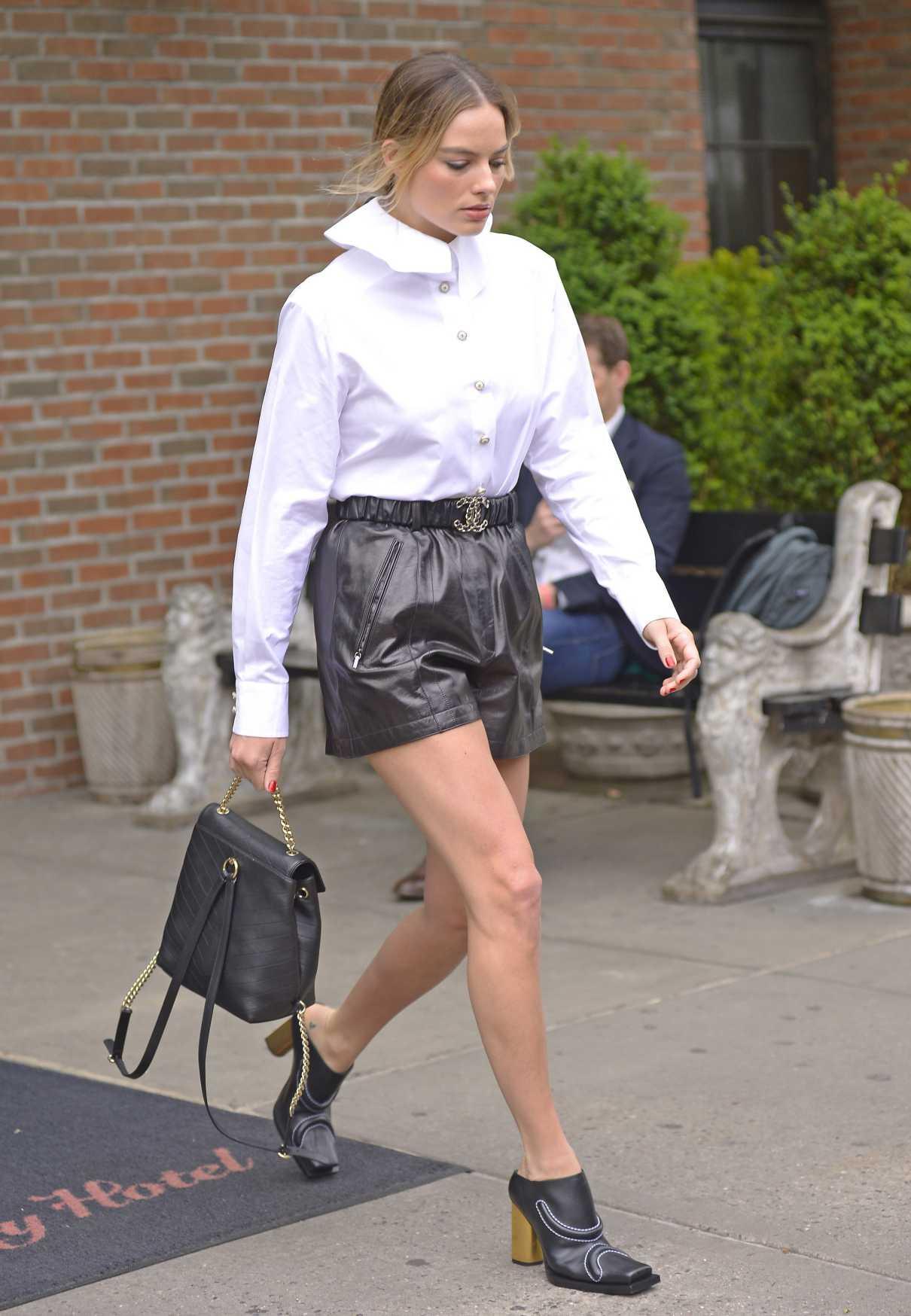 Margot Robbie in a White Blouse