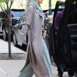 Rita Ora in a Gray Coat