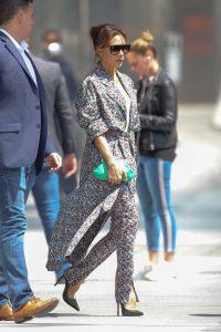 Victoria Beckham in a Floral Dress