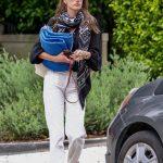 Alessandra Ambrosio in a White Jeans
