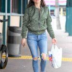 Ana De Armas in a Green Bomber Jacket