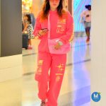 Bella Thorne in a Pink Tracksuit