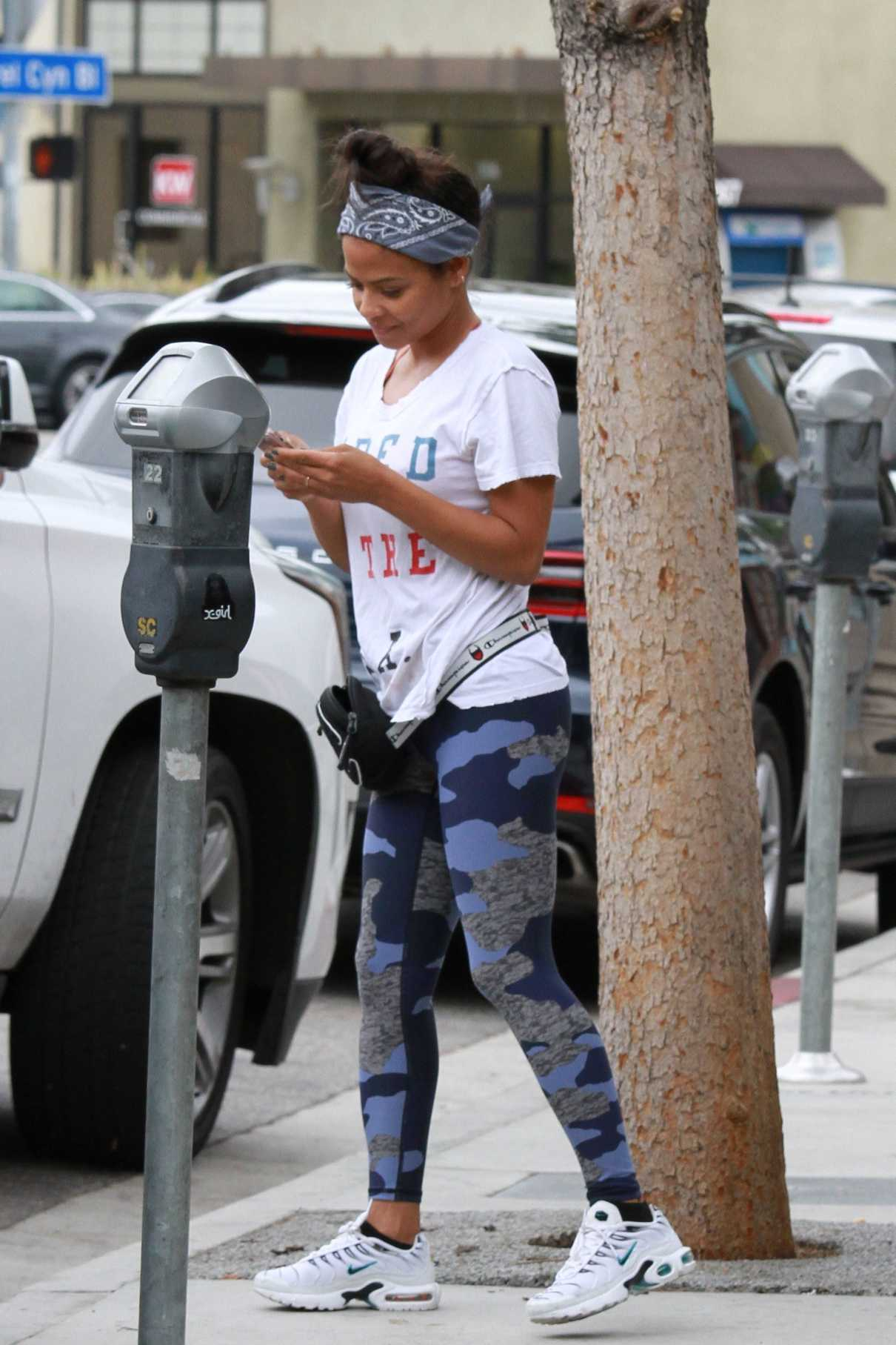 Christina Milian in a White Tee