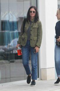 Courteney Cox in a Green Blazer