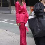 Emily Ratajkowski in a Pink Suit