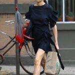 Famke Janssen in a Black Dress