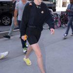 Gigi Hadid in a Black Sweatshirt