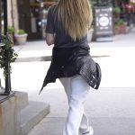 Heidi Klum in a White Sweatpants