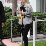 Iggy Azalea in a Black Cap Was Seen Out with Her Puppy in Miami 06/09/2019