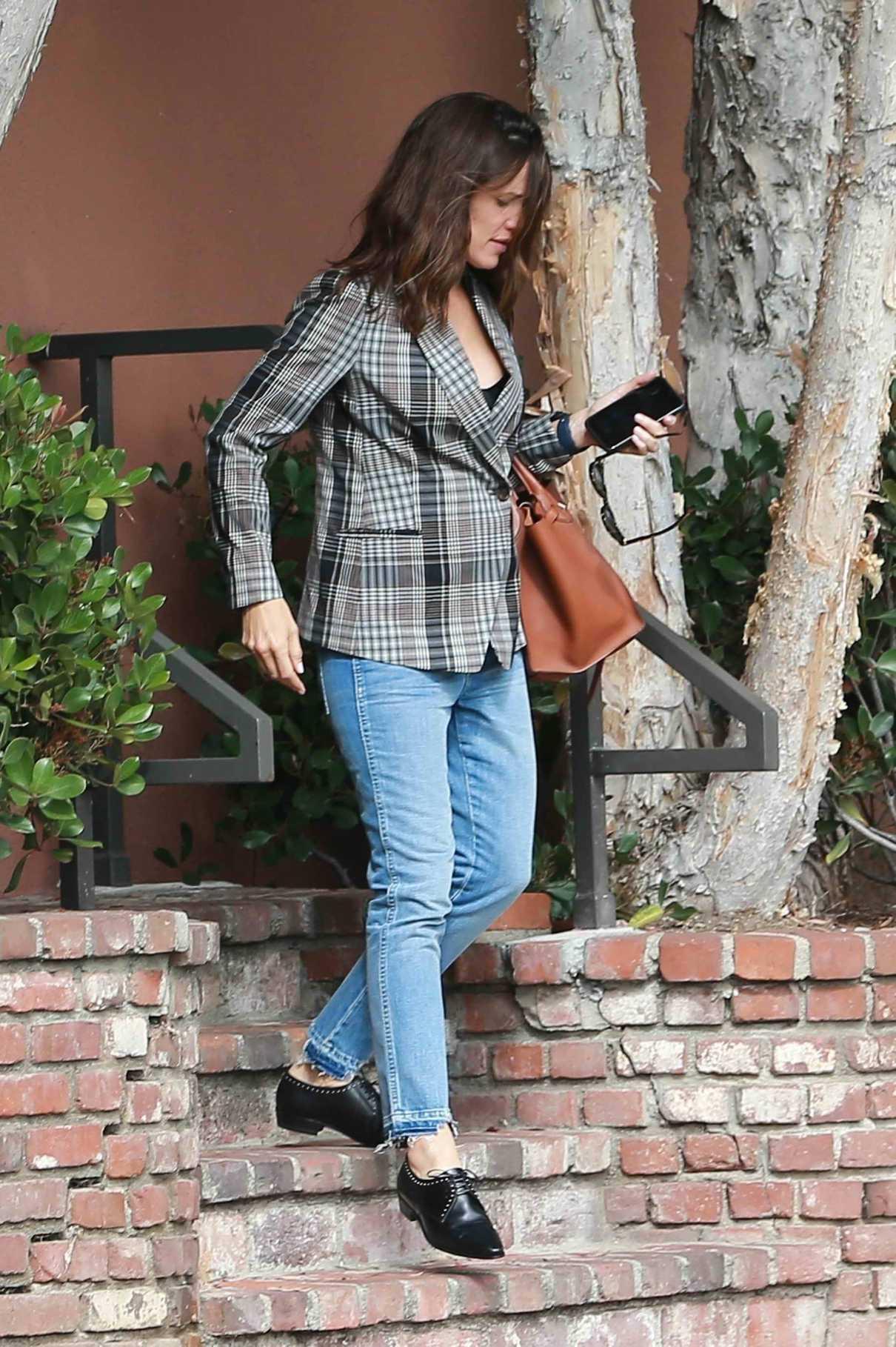 Jennifer Garner in a Plaid Blazer