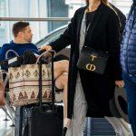 Jessica Alba in a Black Coat