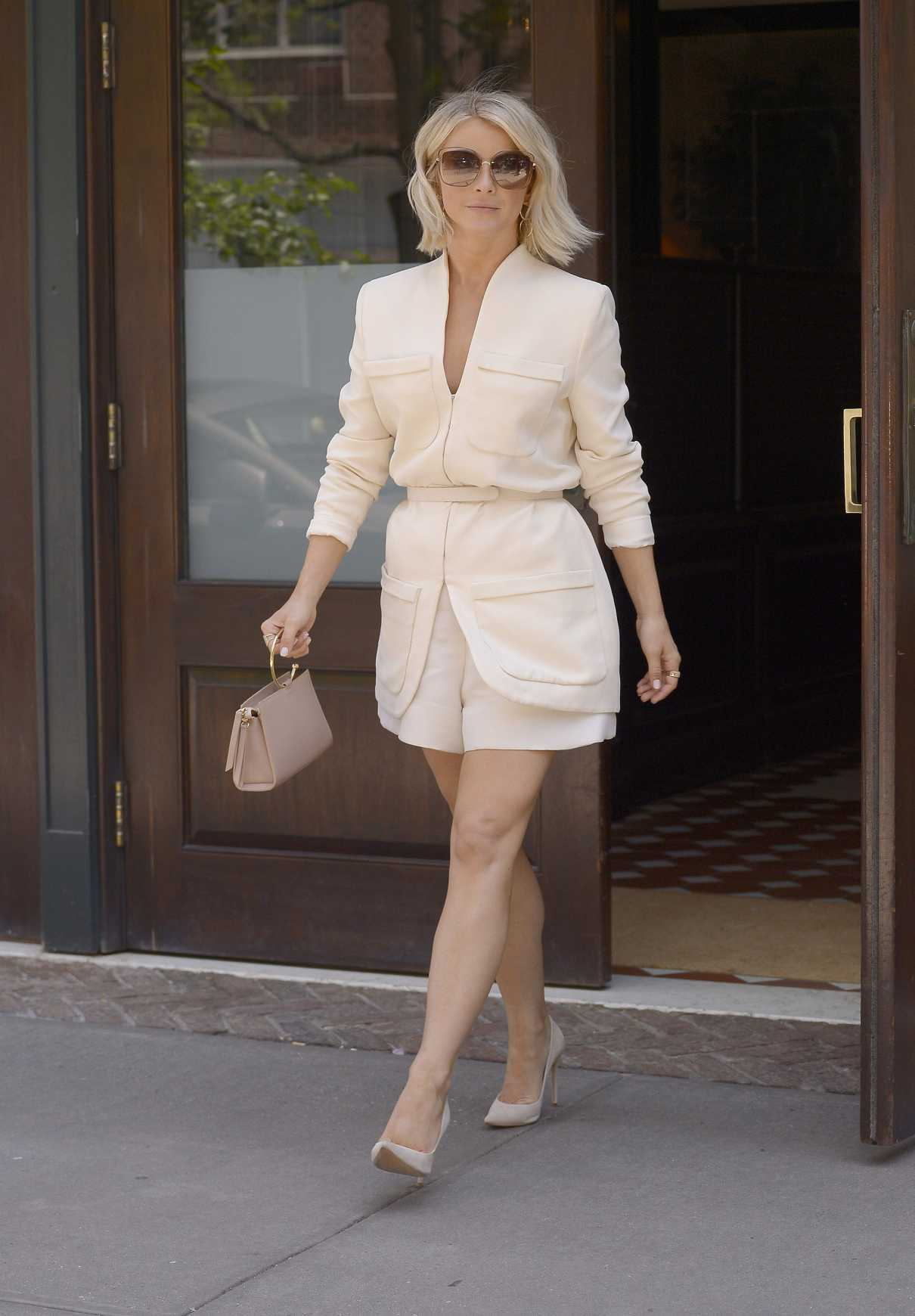 Julianne Hough in a Beige Suit