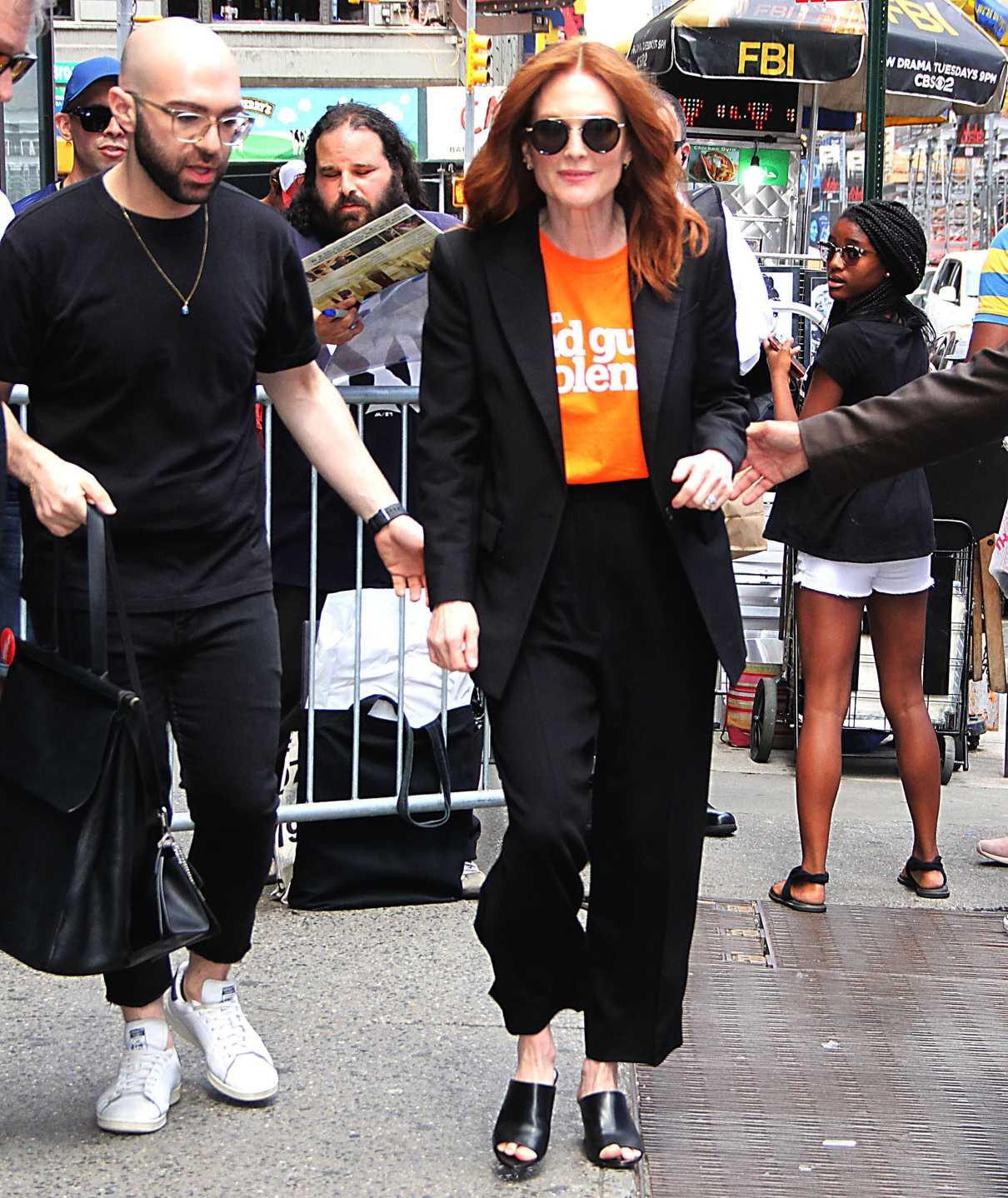 Julianne Moore in a Black Suit