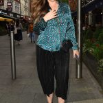 Kelly Brook in a Green Blouse