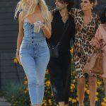 Khloe Kardashian in a Blue Jeans