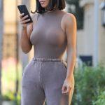 Kim Kardashian in a Purple Sweatpants