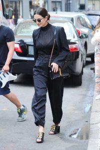 Lily Aldridge in a Black Pants