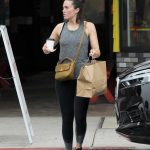 Mandy Moore in a Gray Tank Top