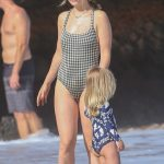 Olivia Wilde in a Plaid Swimsuit