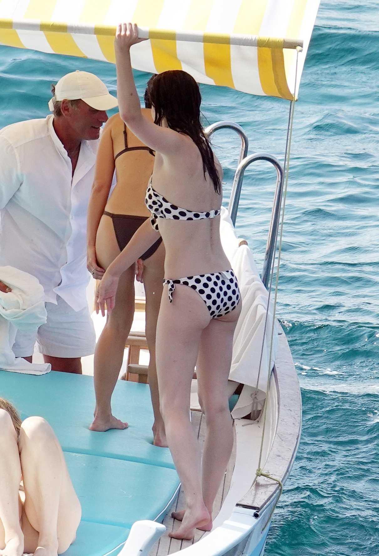 Phoebe Tonkin in a Polka Dot Bikini