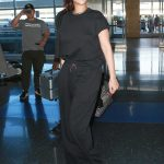 Rihanna in a Black Tee