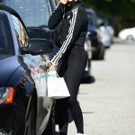 Sarah Hyland in a Black Adidas Tracksuit