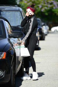 Sarah Hyland in a Black Adidas Tracksuit