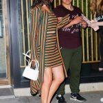 Selena Gomez in a Striped Cardigan