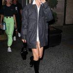 Bella Hadid in a Blue Denim Jacket