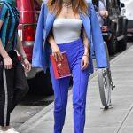 Bella Thorne in a Purple Mugler
