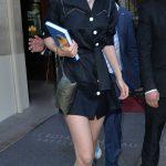 Gigi Hadid in a Black Dress