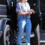 Hilary Duff in a Blue Jeans
