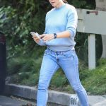 Jennifer Garner in a Blue Sweater