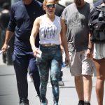 Jennifer Lopez in a Camo Leggings