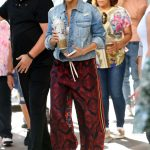 Jennifer Lopez in a Red Pants Was Spotted on Her Way to Madison Square Garden in New York 07/13/2019