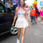 osephine Skriver in a White Sneakers