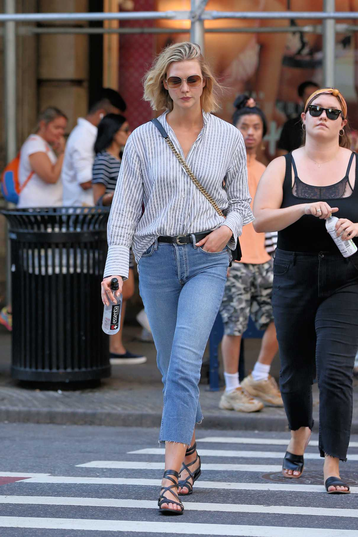 Karlie Kloss in a Striped Blouse