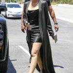Khloe Kardashian in a Black Cardigan