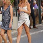 Kimberley Garner in a Short White Dress