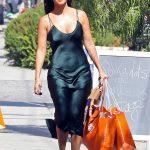 Kourtney Kardashian in a Green Dress