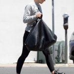 Kristen Bell in a Gray Sweatshirt