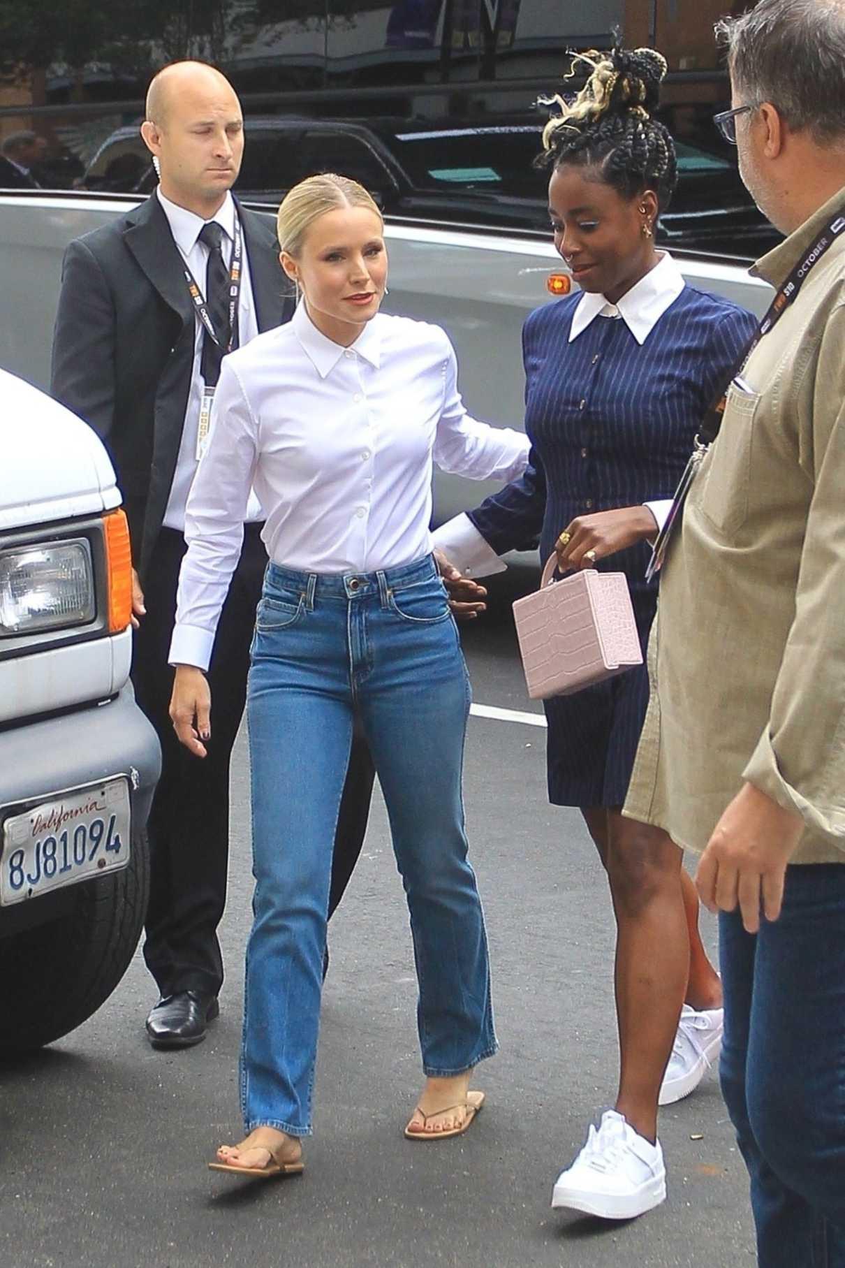 Kristen Bell in a White Shirt
