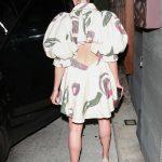 Olivia Culpo in a Beige Dress