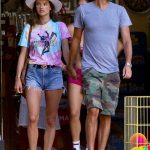 Alessandra Ambrosio in a Blue Daisy Duke Shorts